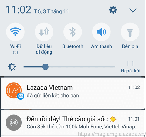 Mua thẻ cào điện thoại trên Lazada