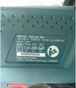 Mã số seri của máy khoan Bosch