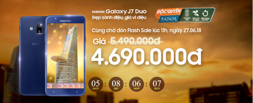 Samsung J7 Duo độ quyền trên Lazada