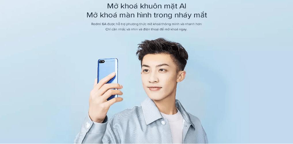 Tính năng mở khóa bằng khuôn mặt thông minh AI trên Xiaomi Redmi 6A