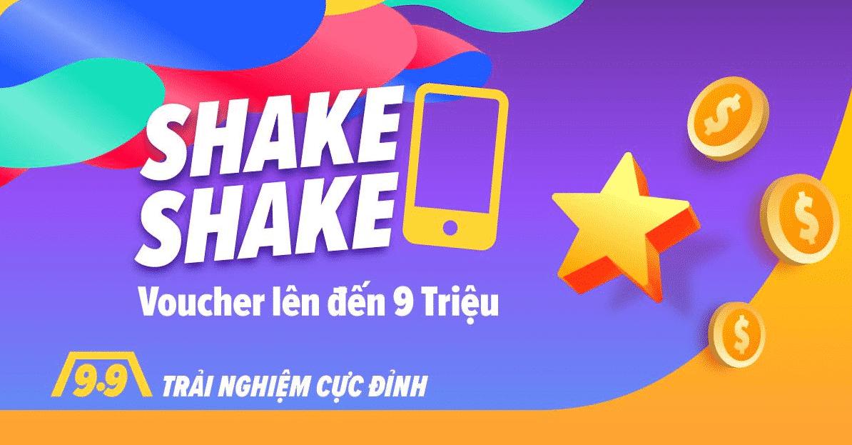 Trò chơi shake shake lắc điện thoại trong khuyến mãi đợt 9.9 trên Lazada