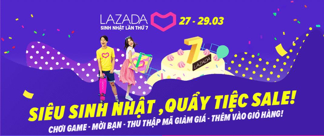 Tổng hợp khuyến mãi Sinh nhật Lazada 2019