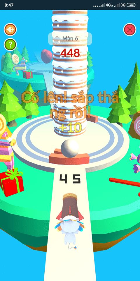 Trò chơi phá bánh kem trên LazGame