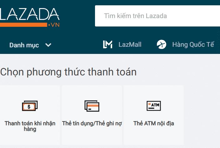 Điều khoản mua bán hàng hóa trên Lazada về phương thức thanh toán