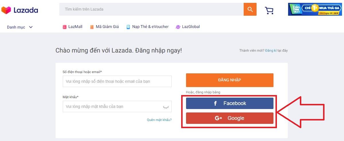 Cách tạo tài khoản Lazada