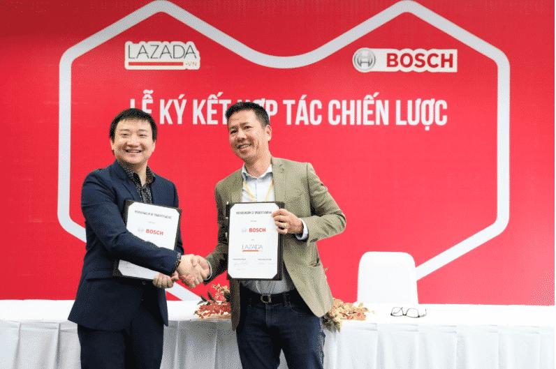 Lazada ký kết đối tác chiến lược với Bosch Việt Nam