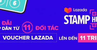 Stamp hunt quét mã nhận tem Lazada
