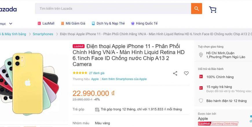 có nên mua iphone 11 trên lazada